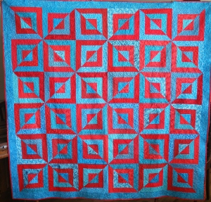 Turquoise Beveled Block front