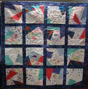 Blue Baby Memory Quilt