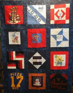 Fireworks Memory Quilt front
