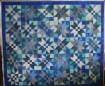Blue Batik Wedding Quilt (front)