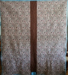 Brown T Shirt Quilt (back)