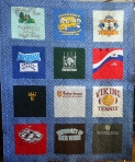 Square Spiral T Shirt Quilt (front)