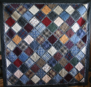 Dad's Shirts Memory Quilt 2 front
