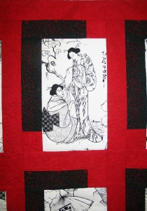 Blackwork Geisha (close-up)