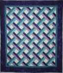 Baby Lattice in Teals & Purples (front)