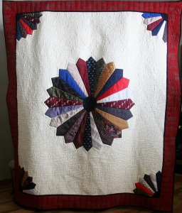 Airplane Memorial Tie Quilt (front)