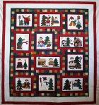 Applique Christmas Snowmen