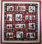 Applique Christmas Snowmen