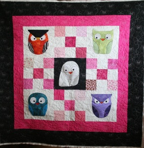 Owls in Pink (front)