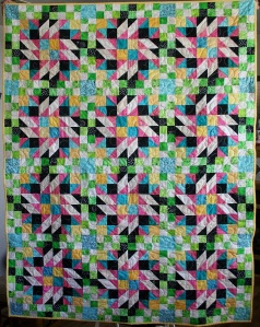 Bright Patchwork Stars (front)