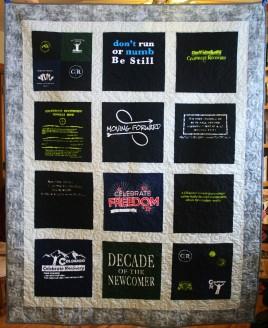 Memorial T Shirt Quilt (front)