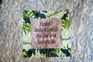 Memorial T Shirt Quilt (label)
