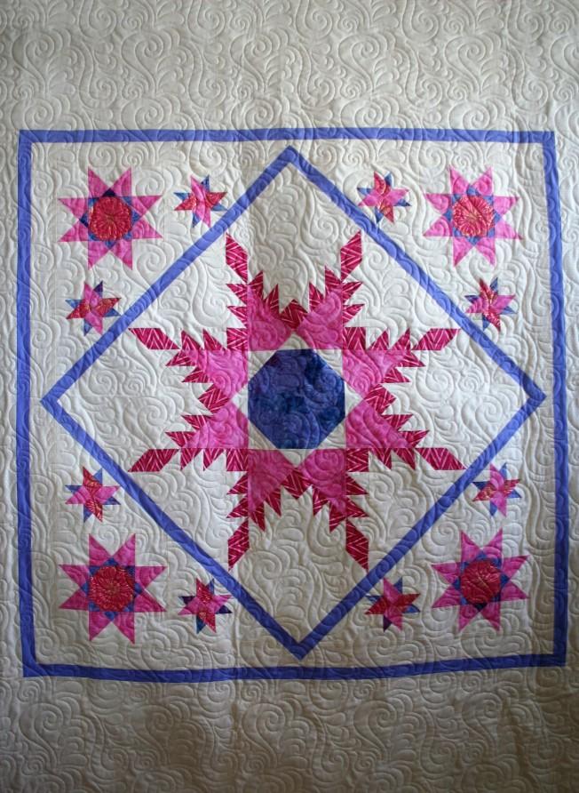 Pink Lavender Stars (close up)