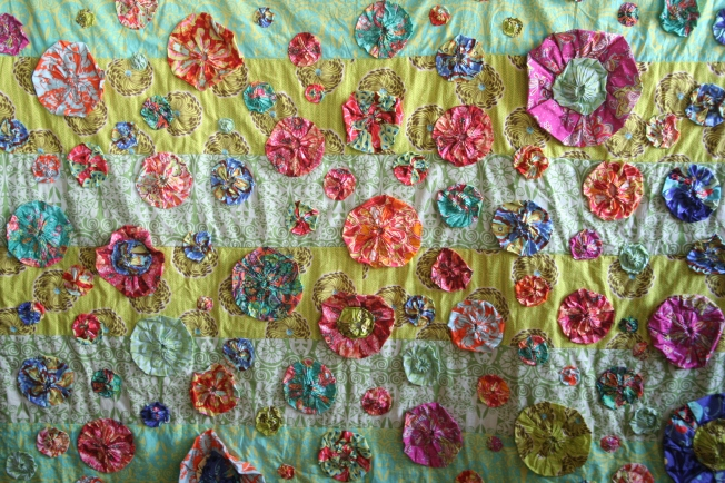 Amy Butler Bloom Quilt (close up)