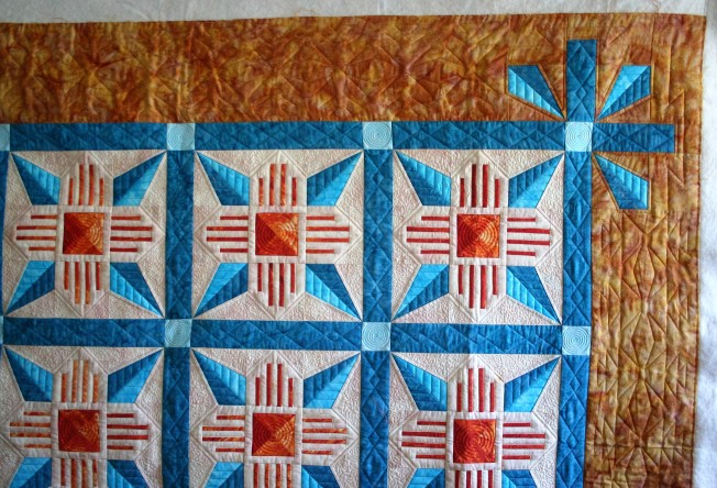 Zia Quilt (corner close up)