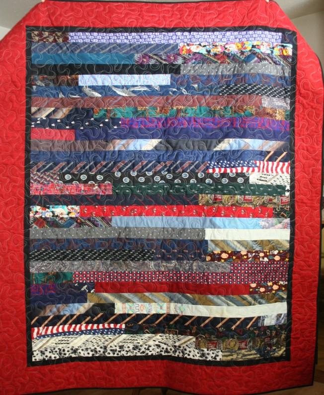 Coordinating Tie Quilt (front)