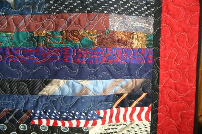 Coordinating Tie Quilt (close up)