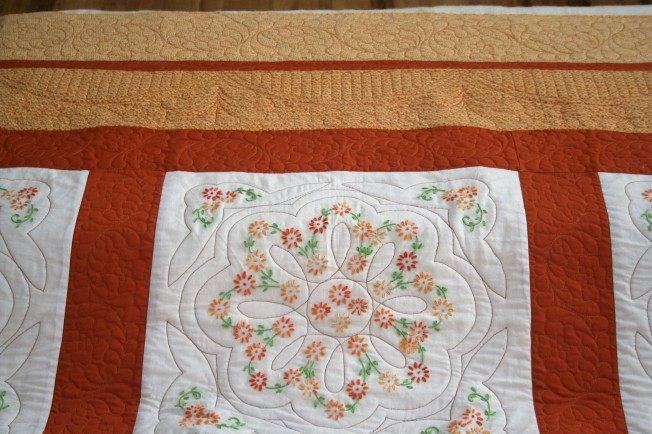 Hand Applique Flowers (close up)
