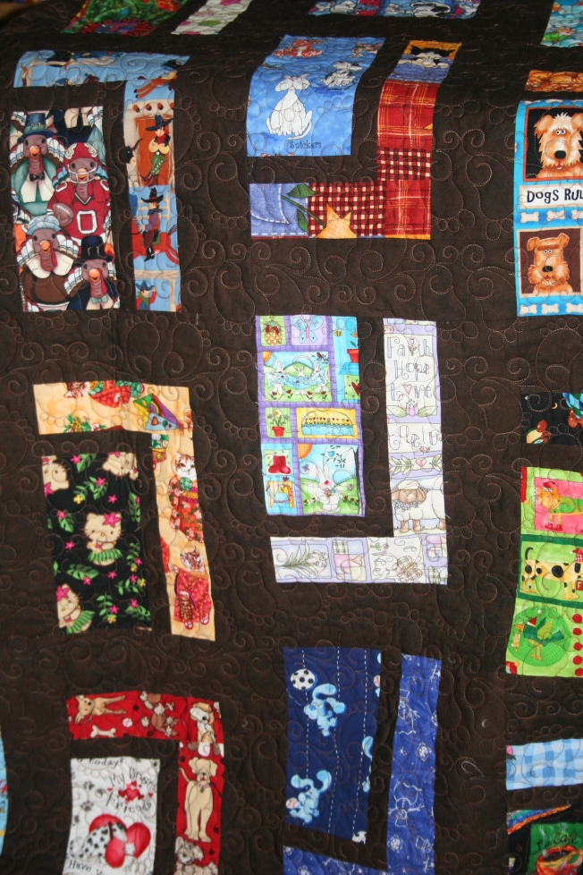Baby Feet Scrub Top Quilt (close up)