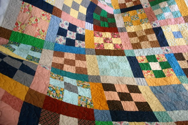 Old Fashioned Scrap Quilt (front)