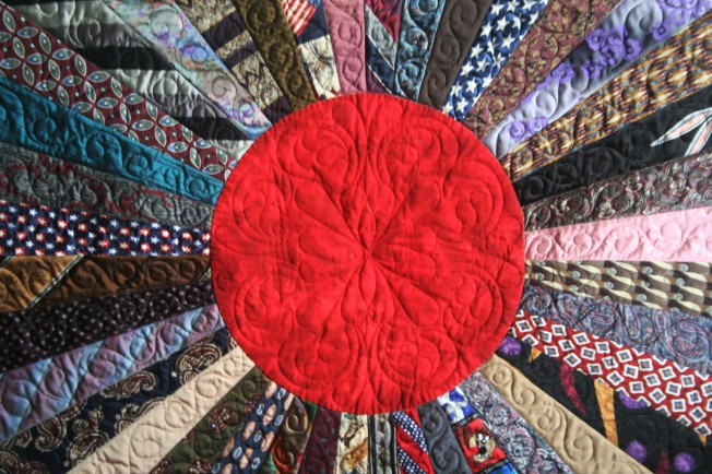 Sooner Necktie Quilt (center)