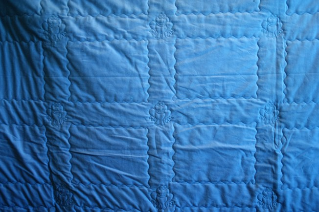 Blue Photo Quilt (back)