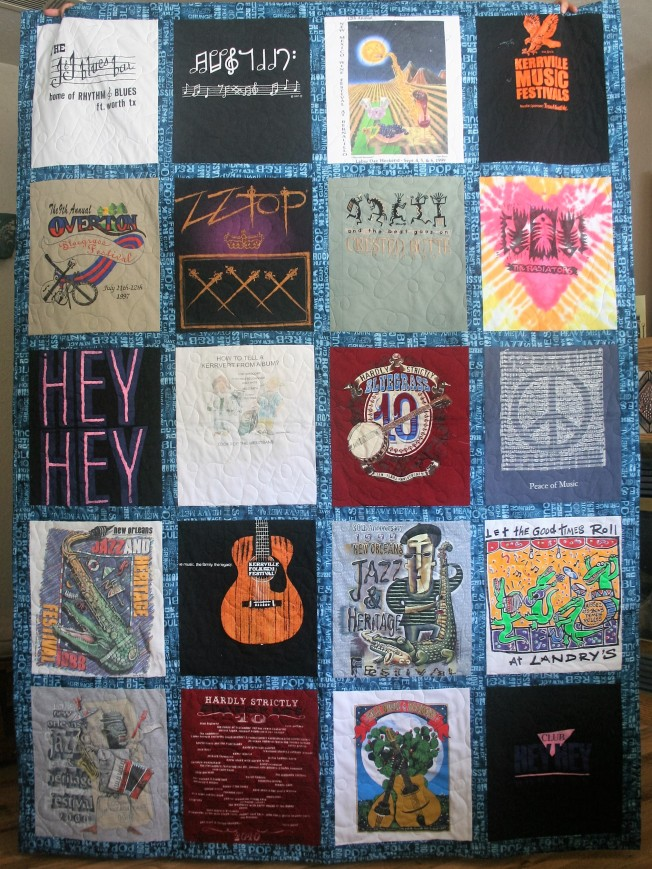 Music T Shirt Quilt (front)