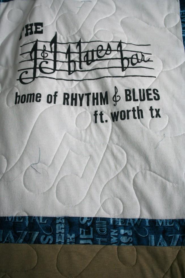 Music T Shirt Quilt (close up)