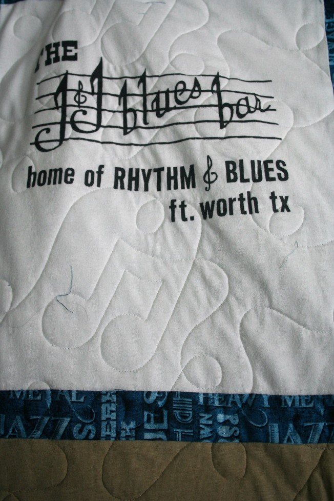 Music T Shirt Quilt (close up)