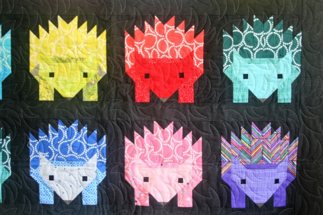 Hedgehog Quilt (close up)