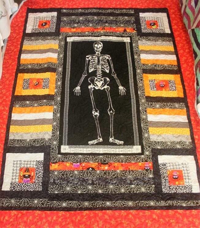 Halloween Spiders and Bones (front)