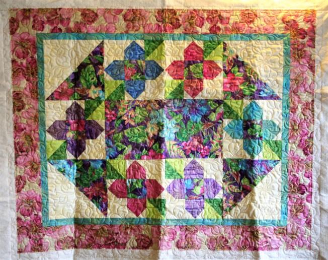 Dogwood Flower Quilt (front)