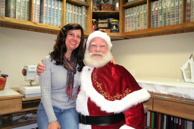 Santa Visits Ideal Stitches