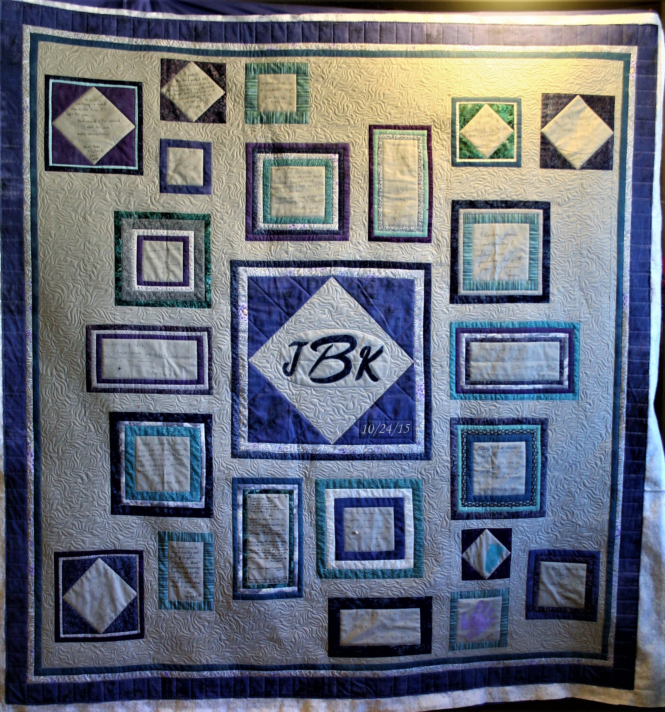 Purple Wedding Signature Quilt (front)