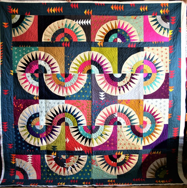 New York Beauty Wedding Quilt (front)