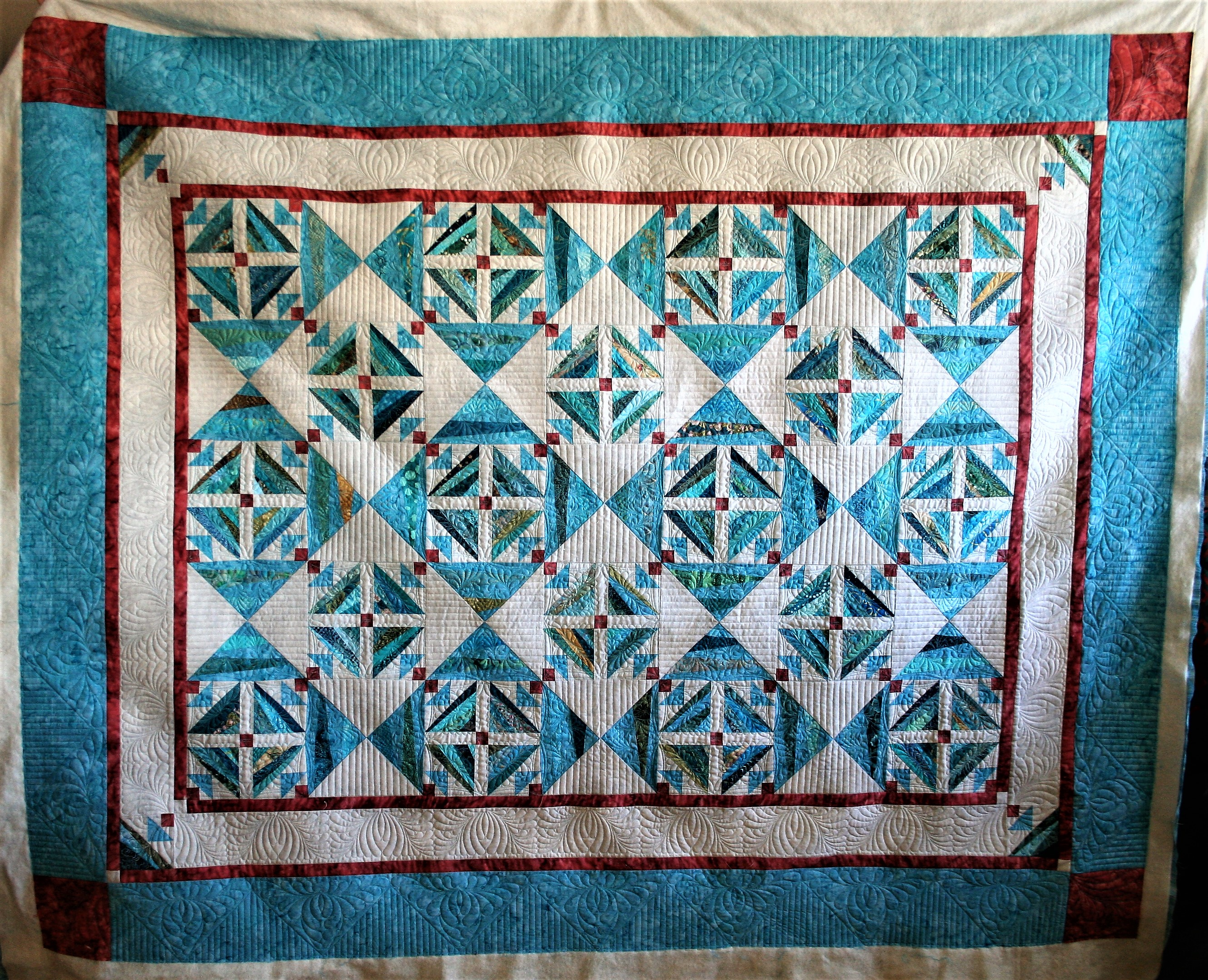 Turquoise String Quilt (front)
