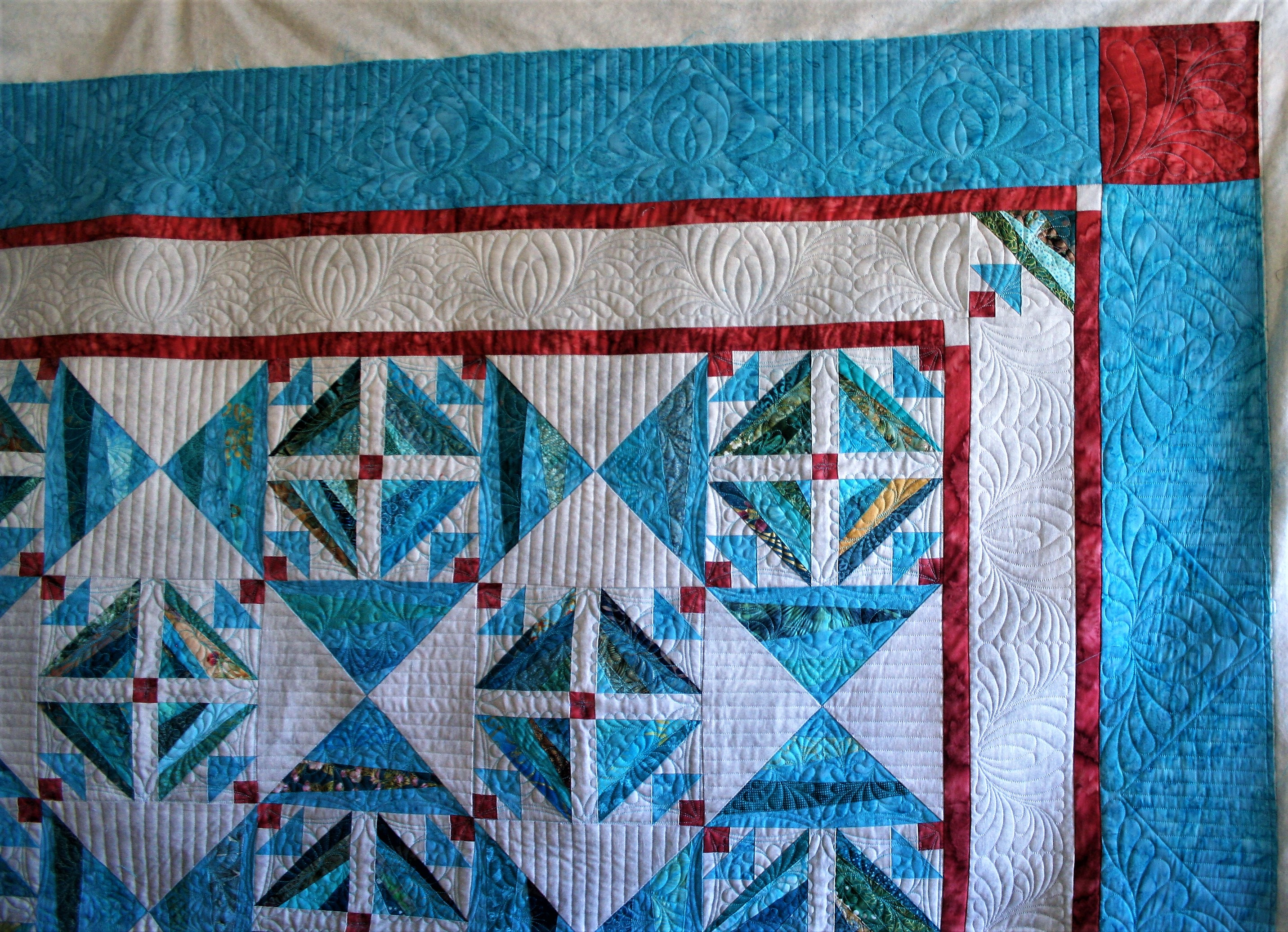 Turquoise String Quilt (corner)
