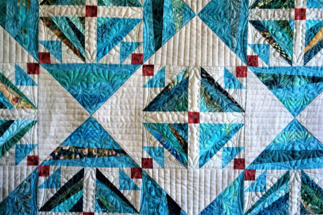 Turquoise String Quilt (close up)