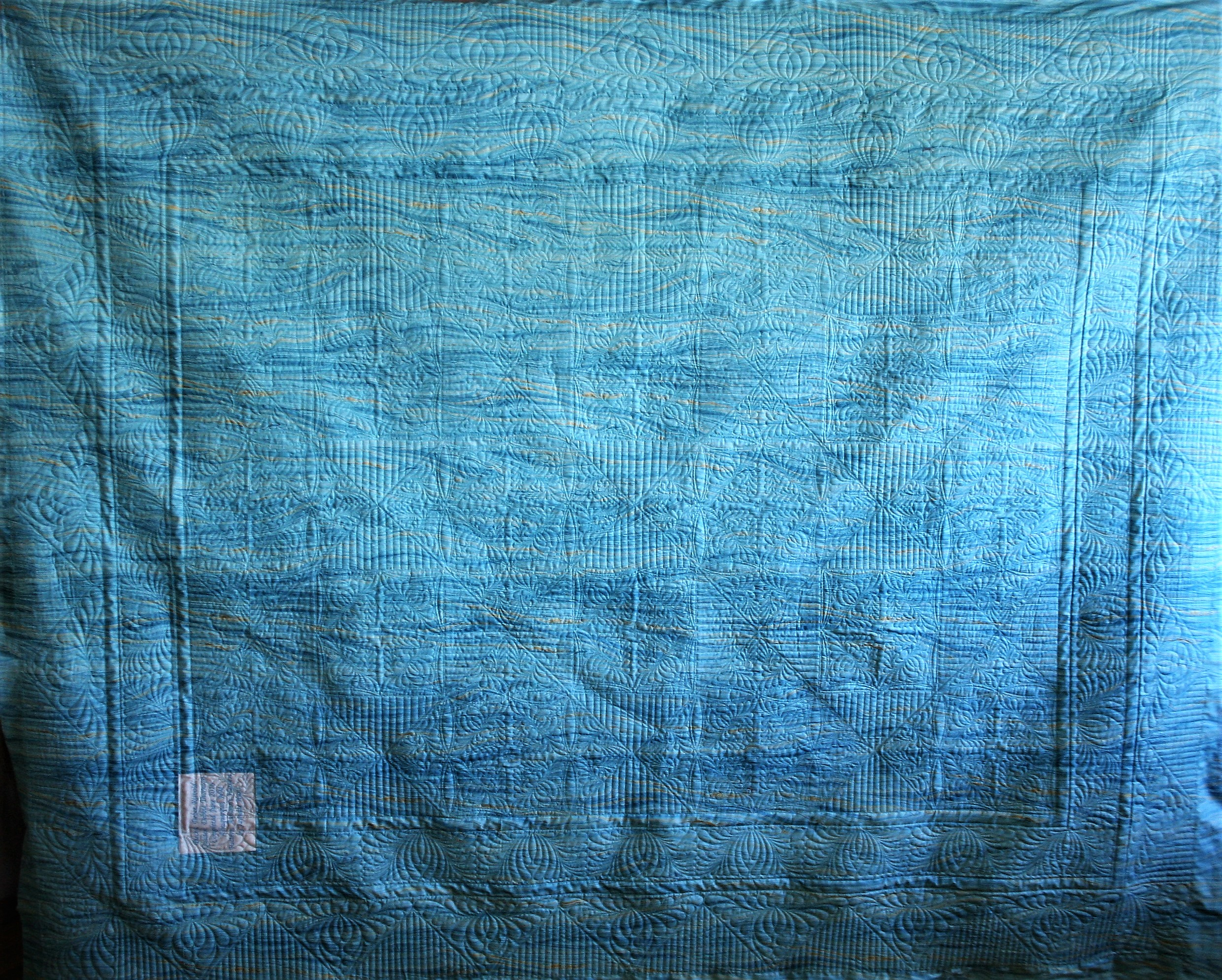 Turquoise String Quilt (back)