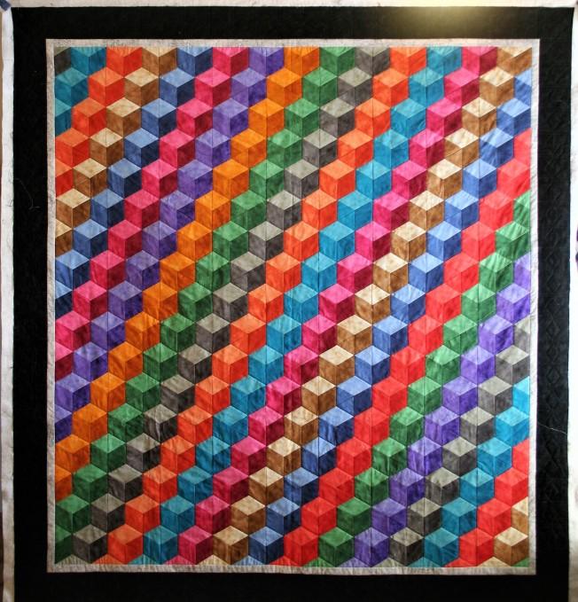 Rainbow of Tumbling Blocks (front)