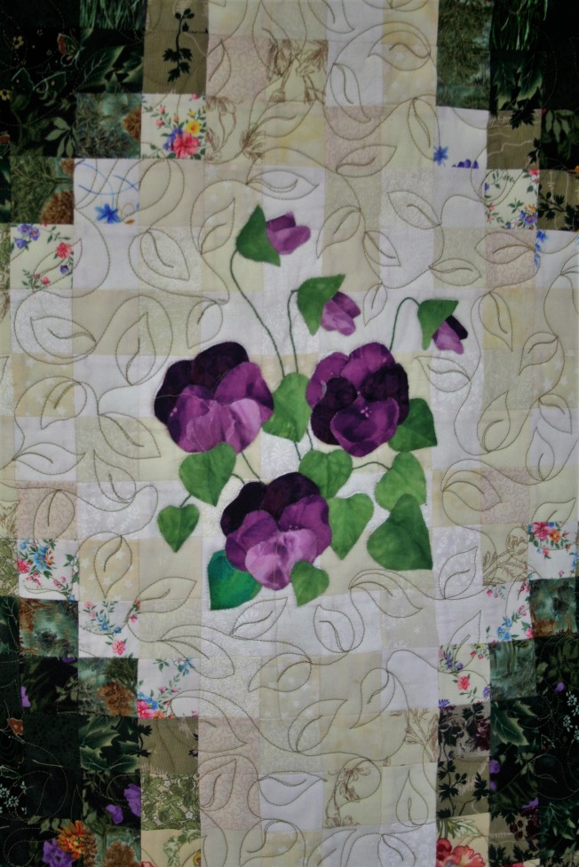 Applique Flower Garden (close up  6)