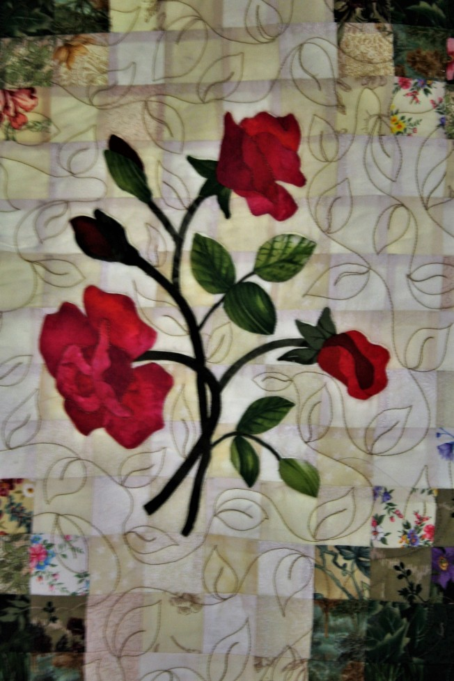 Applique Flower Garden (close up  5)