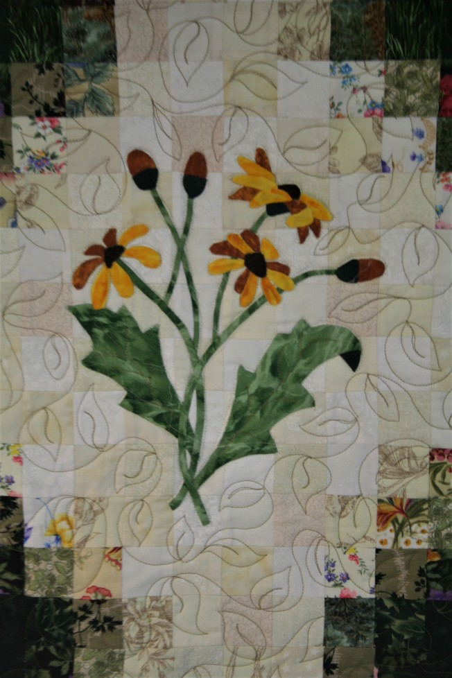 Applique Flower Garden (close up  4)