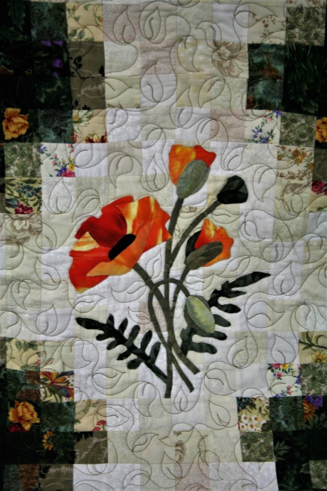 Applique Flower Garden (close up 3)