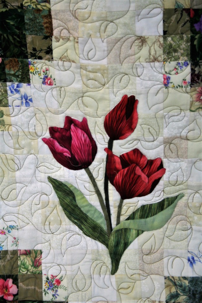 Applique Flower Garden (close up  2)