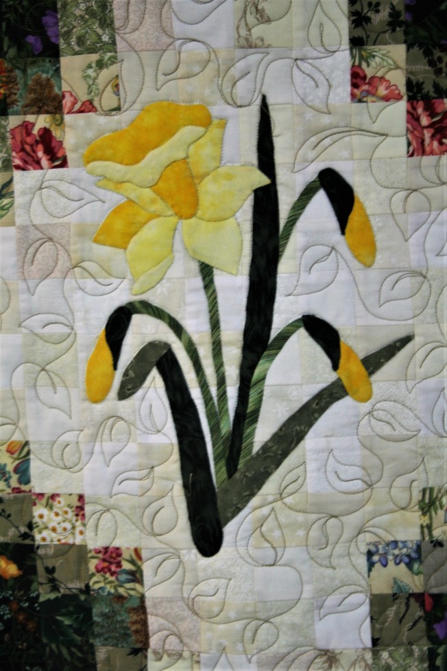 Applique Flower Garden (close up  1)