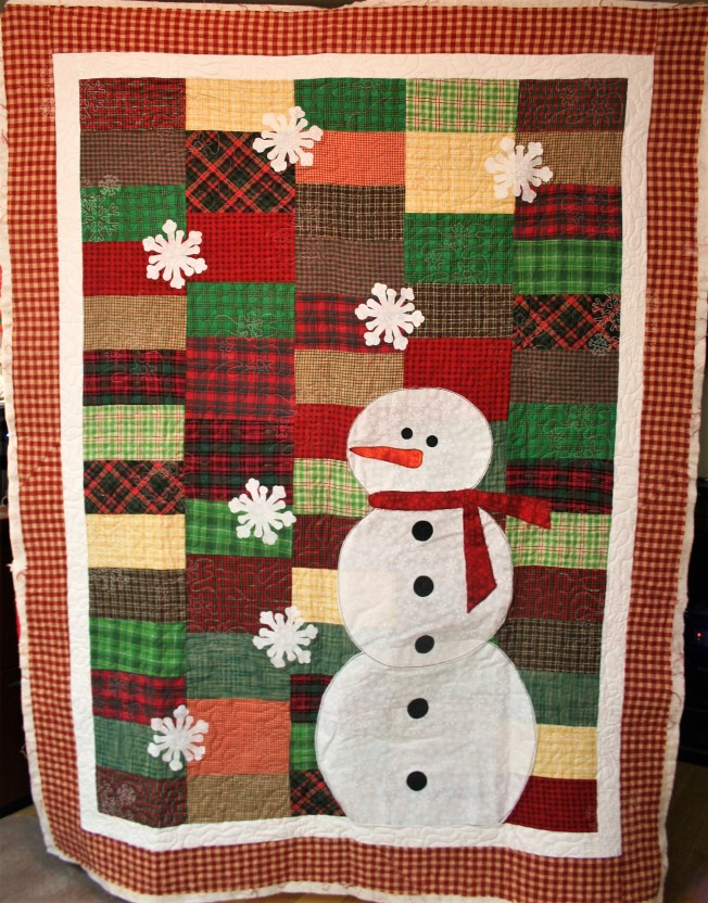 Plaid and Snowman (front)