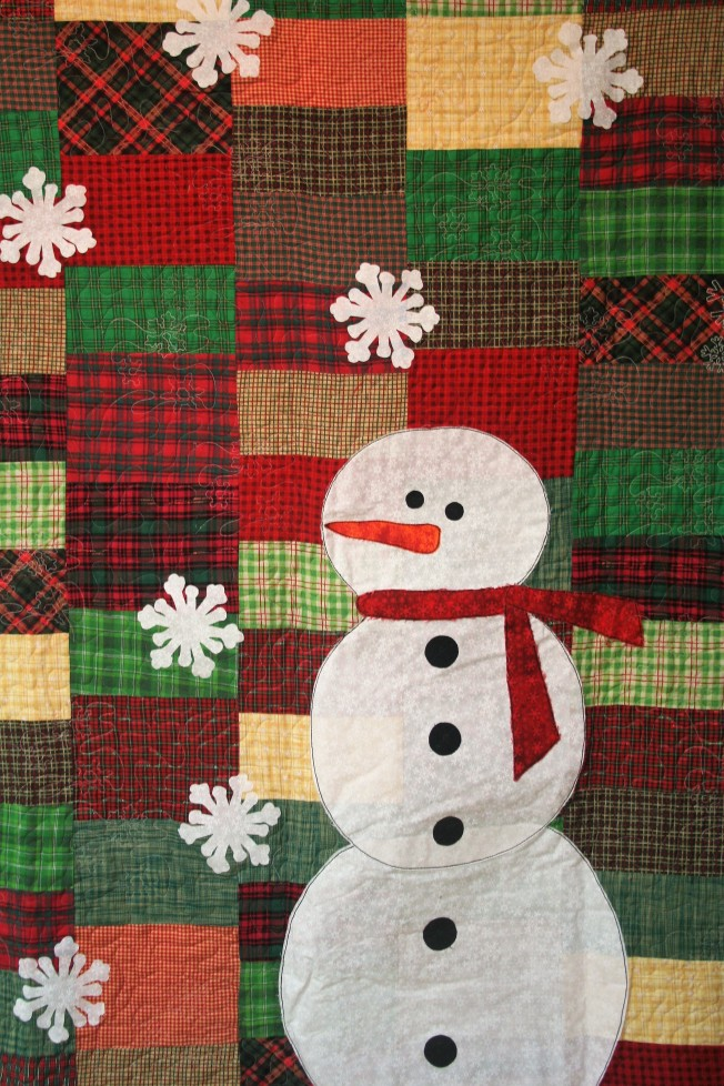 Plaid and Snowman (close up)