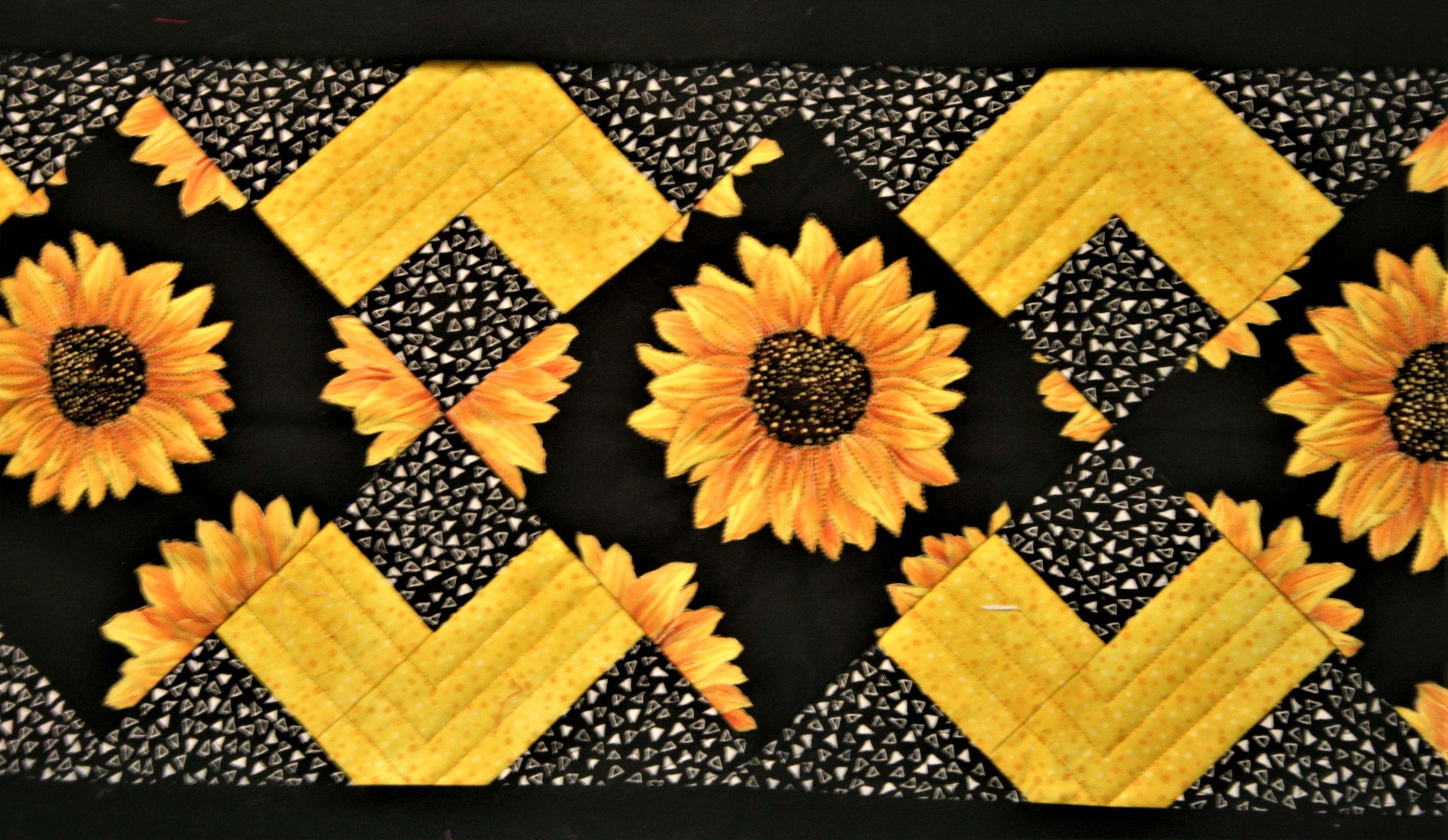 Sunflower Tablerunner (close Up)