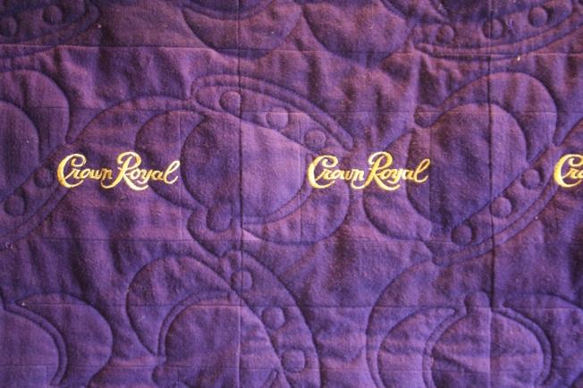Purple Crown Royal (close up)